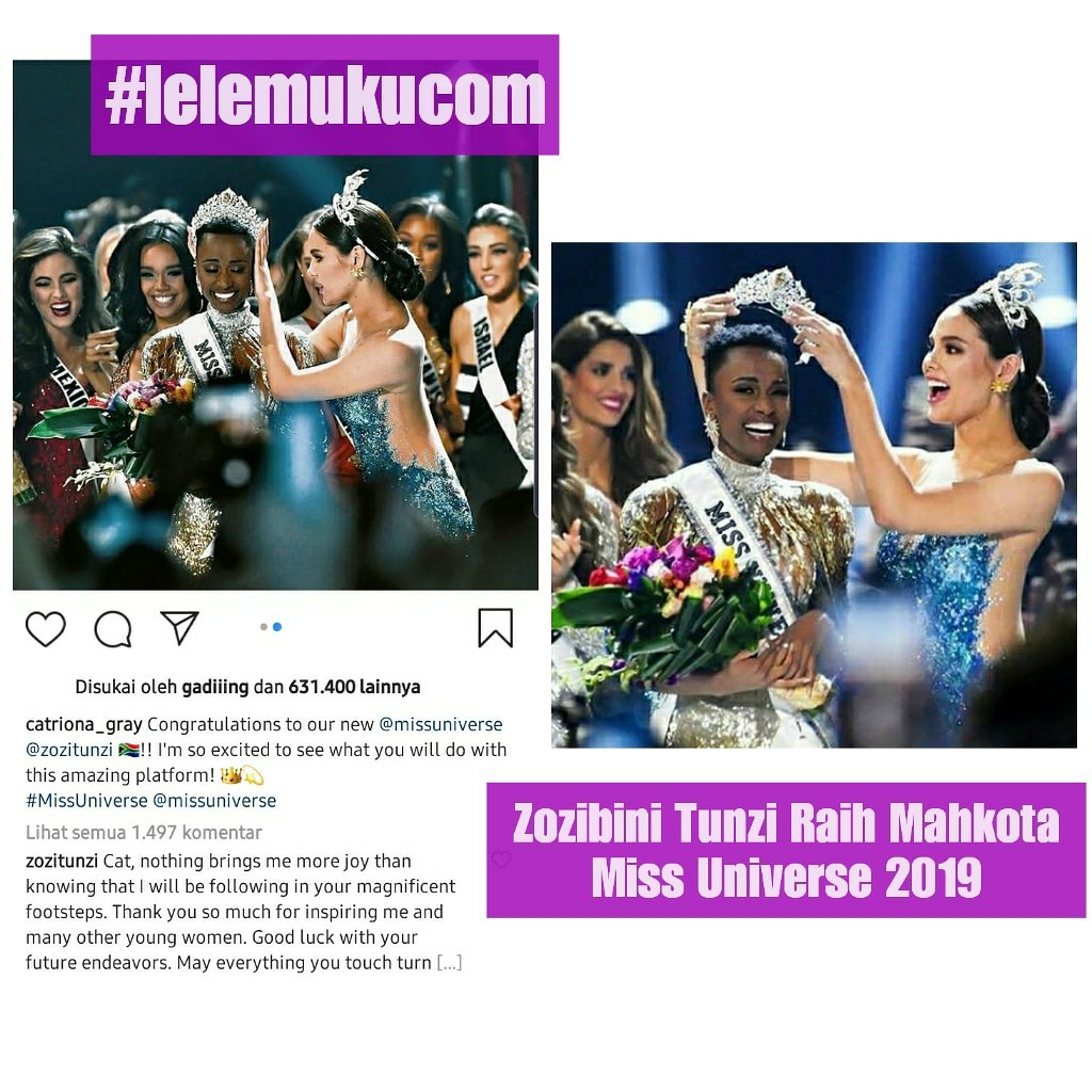 Zozibini Tunzi Raih Mahkota Miss Universe 2019