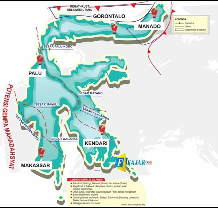 Daryono Tegaskan Tidak Ada Zona Megathrust di Selat Makassar