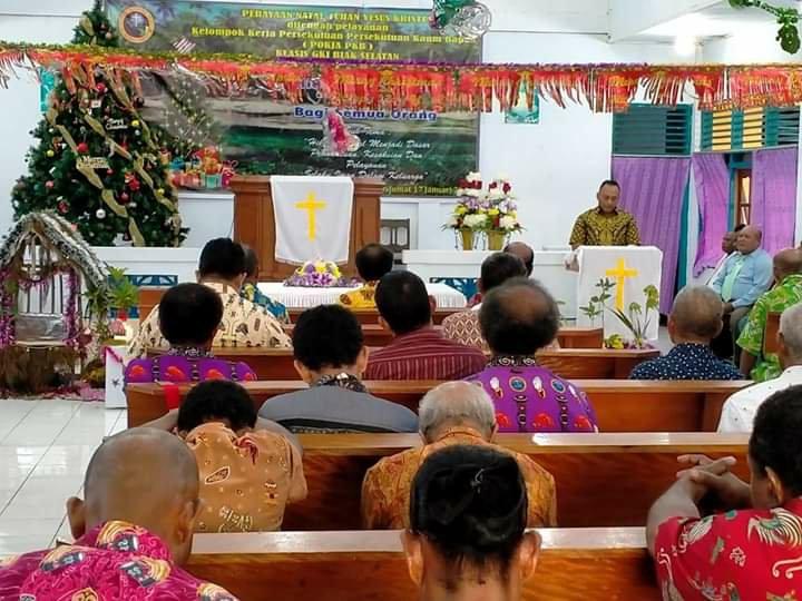 Yohanes Ayer Minta Perayaan Natal Jadi Tempat Pupuk Persatuan Bagi PKB GKI Klasis Biak Selatan