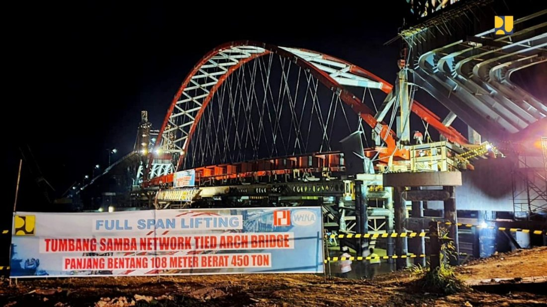 Basuki Hadimuljoto Pastikan Jembatan Tumbang Samba Kalteng Segera Rampung