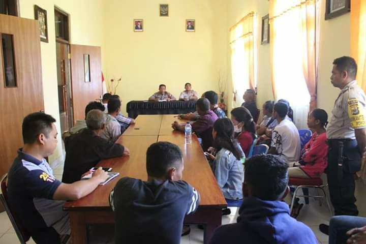 Polres MTB Berhasil Selesaikan Masalah Warga Desa Wowonda dan Kabiarat di Tanimbar