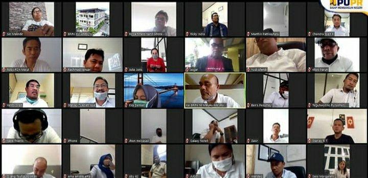 BPJN XVI Ambon Lakukan Rapat Pembahasan Paket pekerjaan Tahun 2020 Lewat Video