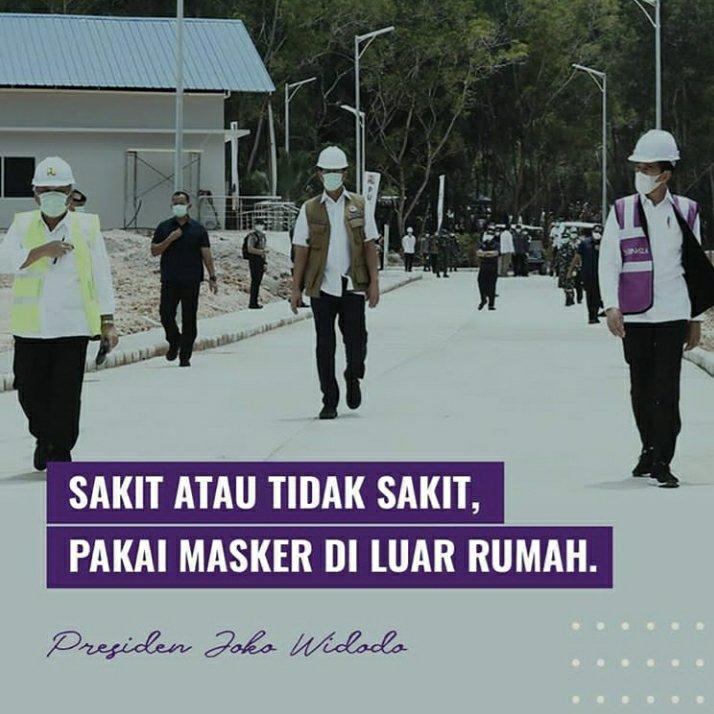 Jokowi Imbau Masyarakat Indonesia Wajib Kenakan Masker di Luar Rumah