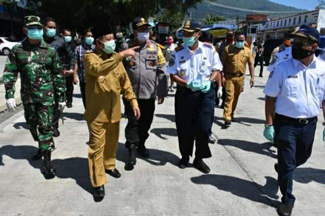 Perketat Akses keluar masuk di Malut, Abdul Gani Kasuba Pantau Pelabuhan dan Bandara