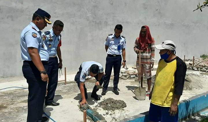 Saiful Sahri Lakukan Peletakan Batu Pertama Koperasi Lapas Ambon