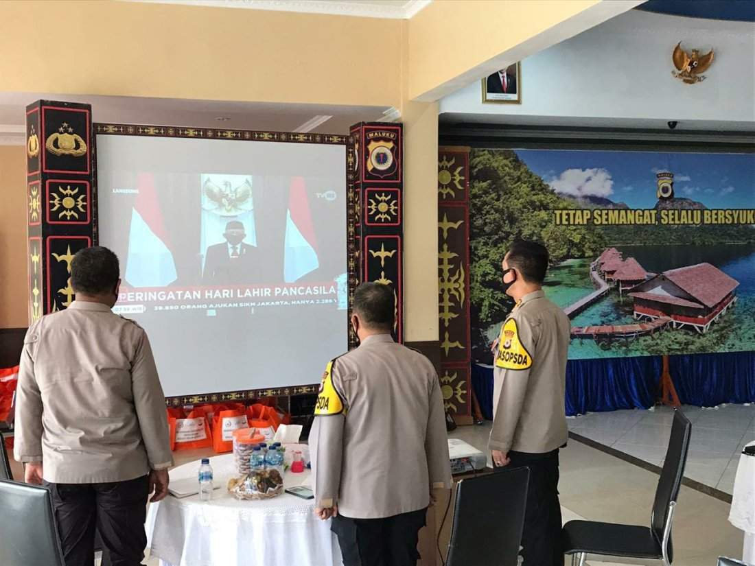 Baharudin Djafar Ikuti Upacara Streaming Hari Lahir Pancasila Bersama Jokowi dan Maru'f Amin
