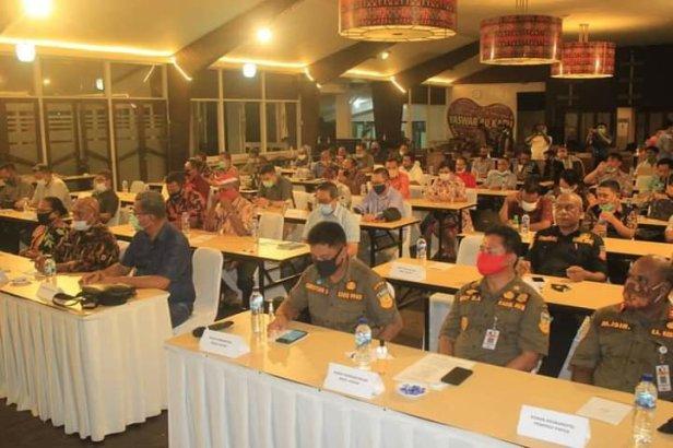 Herry Naap Minta Pemprov Papua Dukung Pembangunan di Biak Numfor Saat Rakor COVID-19