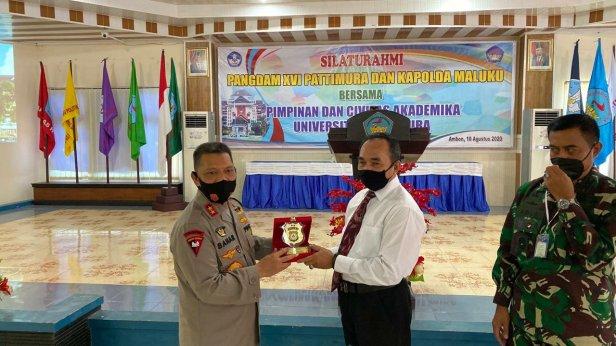 Baharudin Djafar dan Agus Rohman Silaturahmi Bersama di Universitas Pattimura