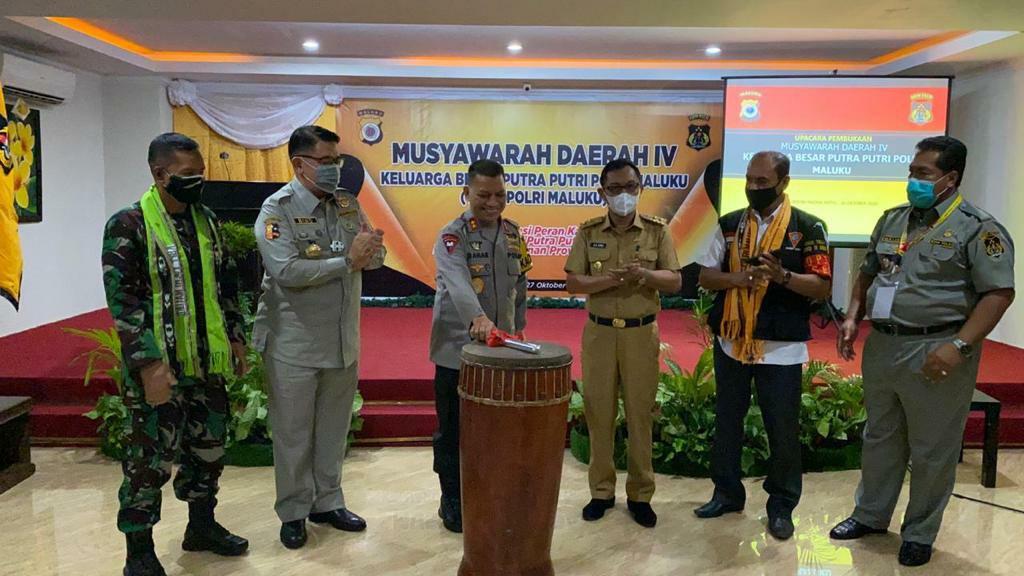 Baharudin Djafar Ikuti Pembukaan Musyawarah Daerah IV Keluarga Besar Putra Putri Polri Daerah Maluku