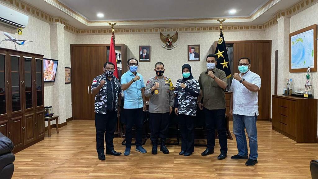 Baharudin Djafar Temui Barisan Pemuda Nusantara Provinsi Maluku