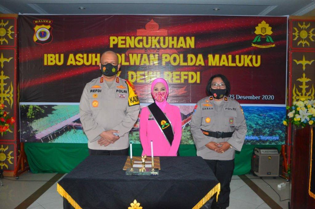 Dewi Refdi Andri Jadi Ibu Asuh Polwan Polda Maluku