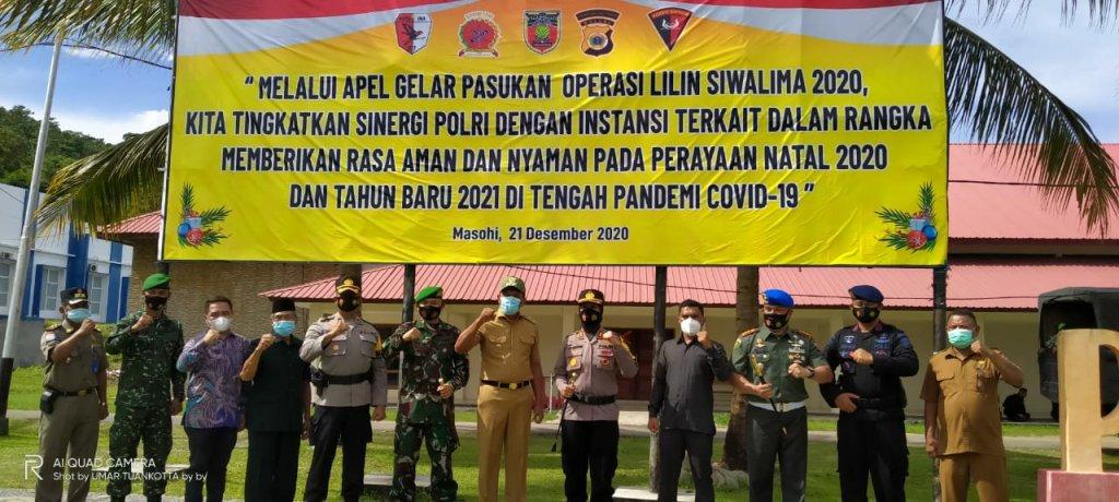 Tuasikal Abua Pimpin Gelar Pasukan Pengamanan Polres Malteng Jelang Natal dan Tahun Baru